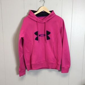 Under Armour Women's Pink Sz Large Sweater Hoodie